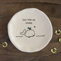 Whale  You  Are  Loved  Giving  Collection  Trinket  Dish  From  Natural  Life
