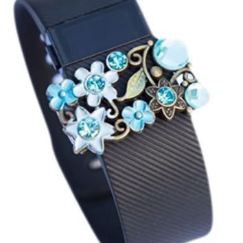 Fitbit jewelry accessory Charge Charge HR Flex activity tracker bling - Color Pick (Blue for Fitbit Charge/ Charge HR)