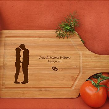 ikb633 Personalized Cutting Board lovers wedding gift anniversary