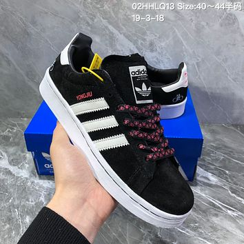DCCK2 A955 Adidas Campus Bicycle Fashion Casual Skateboard shoes Black