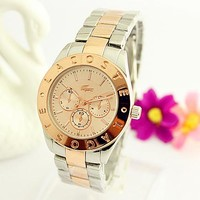 Lacoste Hot Sale Vintage Fashion Classic Watch Round Ladies Women Men wristwatch On Sales(With Thanksgiving&Christmas Gift) 5-Color Rose gold silver I-Fushida-8899