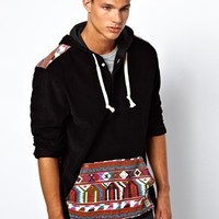 Altamont Hooodie Cord With Aztec Print at asos.com