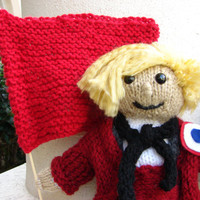 "Enjolras, Les Miserables Doll Collection, Hand Knitted, 8"" OR 13"" Tall, Prices Vary Accordingly"