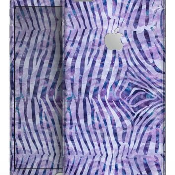 Purple Watercolor Zebra Pattern - Skin-kit for the iPhone 8 or 8 Plus