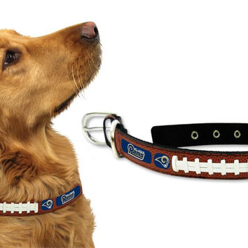Los Angeles Rams Dog Collar - Size Large