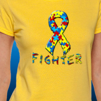 Autism Awareness Fighter T-Shirt