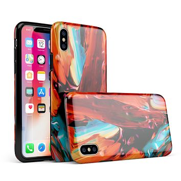 Blurred Abstract Flow V1 - iPhone X Swappable Hybrid Case