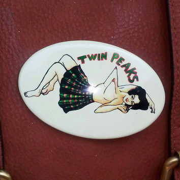 Twin Peaks- GLOW in the DARK pinback button