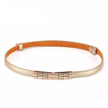 Double Buckle Metal Belt