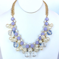 Lavender & Pearl Necklace Set