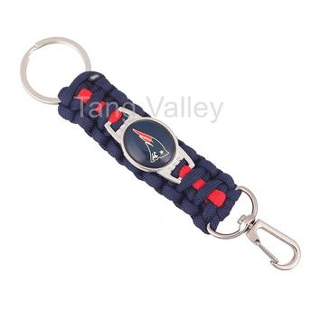 NEW New England Patriots Paracord Keychain Drop Shipping! KY0024