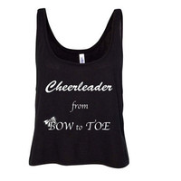 Cheerleader from Bow to Toe Women's Flowy Boxy Tank
