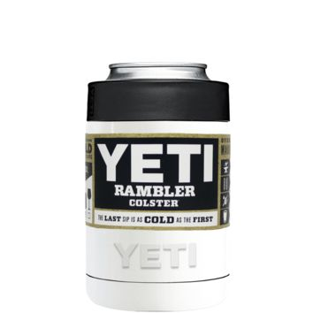 Custom YETI Colster White Gloss Design Your Own Bottle & Can Cooler