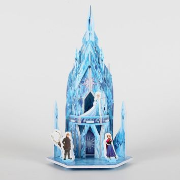 3D DIY Puzzle Jigsaw Baby toy Kids Birthday Party Supplies Gift For Children Disney Frozen Castle Puzzle