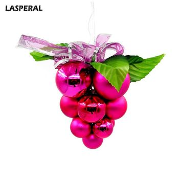 LASPERAL 2017 Christmas Series Grape Balls Shape Charms Fit Chrimas Tree Decorations Accessories Homme Jewelry Decoration New