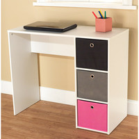 Walmart: Student Writing Desk with 3 Fabric Bins, Multiple Colors