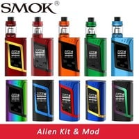 Original Smok Alien Kit Alien 220W Box Mod with 3ml TFV8 Baby Tank e Electronic Cigarette Vape Kit VS Smok G-Priv /Stick V8 Kit