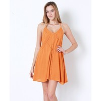What A Fun Day Dress - Orange
