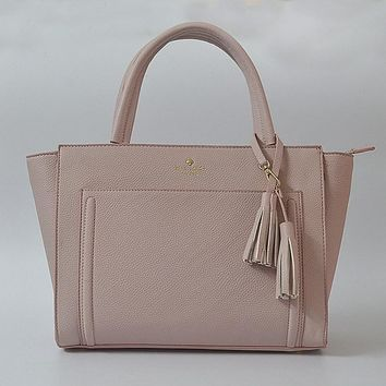 Fashion Kate Spade Women Classic Shopping Leather Tote Handbag Shoulder Bag Color Pink