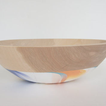 Extra Large Wooden Serving Bowl inspired by Taffy by Wind and Willow Home, Beech Wood, salad bowl, wooden salad bowl, summer entertaining