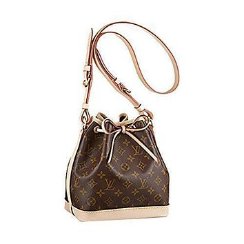Tagre™ Authentic Louis Vuitton Monogram Canvas No¨¦ BB Shoulder Bag Strap Handbag Article: M40