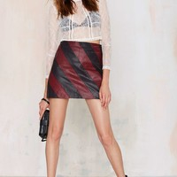 Nasty Gal Drive Me Wild Leather Skirt