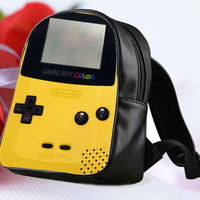 "Game Boy pokemon for Backpack / Custom Bag / School Bag / Children Bag / Custom School Bag ""NP"""