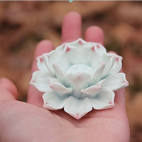 Lotus : Ceramic Decoration for aquarium / Candle Holder / Incense Stick Holder ~ Ceramic Flower ~ Rustic Romantic ~ made to order