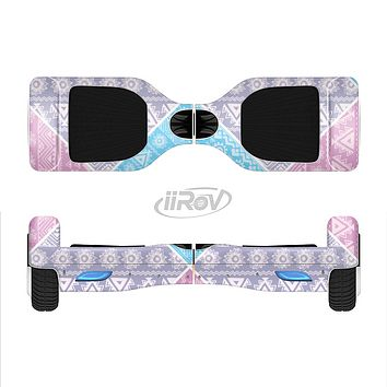 The Squared Pink & Blue Textile Patterns Full-Body Skin Set for the Smart Drifting SuperCharged iiRov HoverBoard