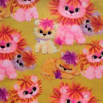 Fluffly Colorful Yarn KITTENS - HALLMARK Vintage Wrapping Paper Gift Wrap