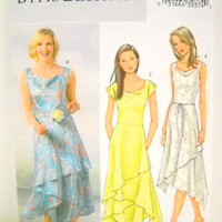 Womens Plus Size Dress Pattern, Un Cut, Butterick B4448, Sewing Notions