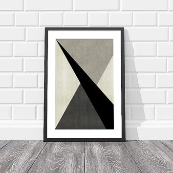 16x20, 18x24 Scandinavian Print, Triangle Print, Abstract Geometric Print, Scandinavian Poster, Modern Poster, Black And White Poster