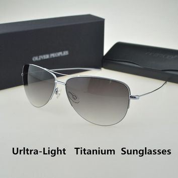 Strummer Sunglasses Pure Titanium Super light 12g Oliver Peoples Pilot Sunglasses Men Unisex Brand High quality Sunglass OV1004S