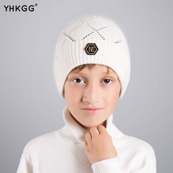 Yhkgg2016 Last Brand New Knitted  Kids Warm Cap Solid Color Children Beanies Boys Girls Outdoor  Winter
