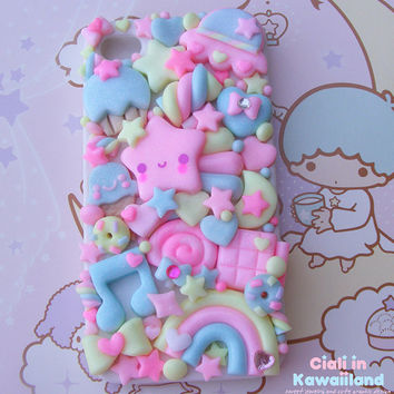 Super cute kawaii back case for Iphone 4 4s 5 by CialiKawaiiland