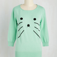 That's Mews to Me! Sweater | Mod Retro Vintage Sweaters | ModCloth.com