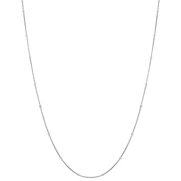 925 Sterling Silver Round 0.8mm Thin Smooth Ball Snake Chain