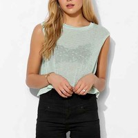 BDG Surf's Up Muscle Tee- Green XS