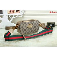 Gucci New Popular Women Shopping Bag Leather Purse Waist Bag Single-Shoulder Bag Crossbody Satchel Golden I-OM-NBPF