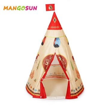 Foldable Kids Teepee Tent Children Indian Tents Enfant Playhouse for Kids Indoor Outdoor Sports Game