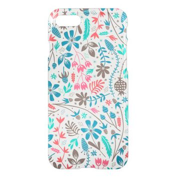 Retro Floral Pattern Apple iPhone 7 Case