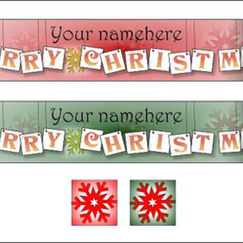 Christmas Banner - merry christmas red green graphic design