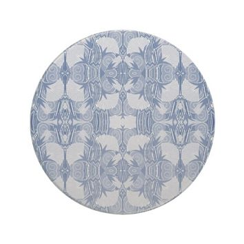 Light Blue and Darker Blue Art Deco Coaster