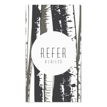 refer a friend aspen trees business card