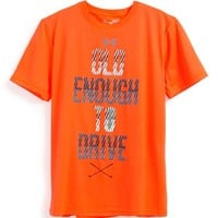 Boy's Under Armour 'Old Enough to Drive' HeatGear Short Sleeve Graphic T-Shirt,