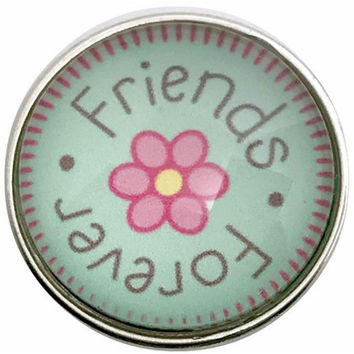 Friend's Forever Snap Charm 20mm for Snap Jewelry