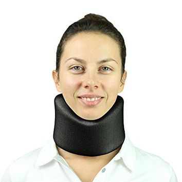 Neck Brace by Vive-Cervical Collar-Adjustable Soft Support - Wraps Aligns Stabilizes & Relieves