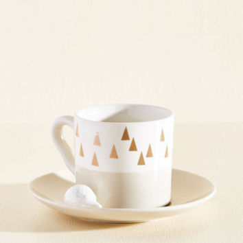 Most Spiky to Succeed Mug and Saucer Set | Mod Retro Vintage Kitchen | ModCloth.com