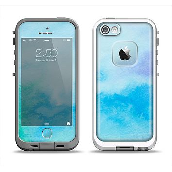 The Subtle Green & Blue Watercolor V2 Apple iPhone 5-5s LifeProof Fre Case Skin Set