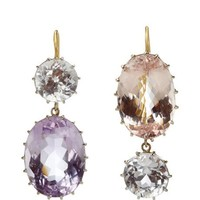 Renee Lewis 18K White Gold Pale Kunzite Earrings Pale Pink